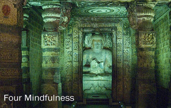 Ajanta Cave, Buddha in meditation